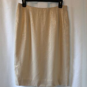 Dresses & Skirts - Bill Burns signature gold pencil skirt